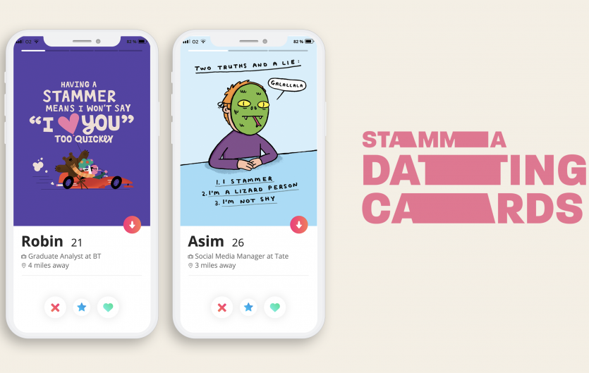 Examples of our dating app cards free to download