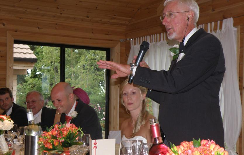 The article's author, Dave Twiney making a wedding speech