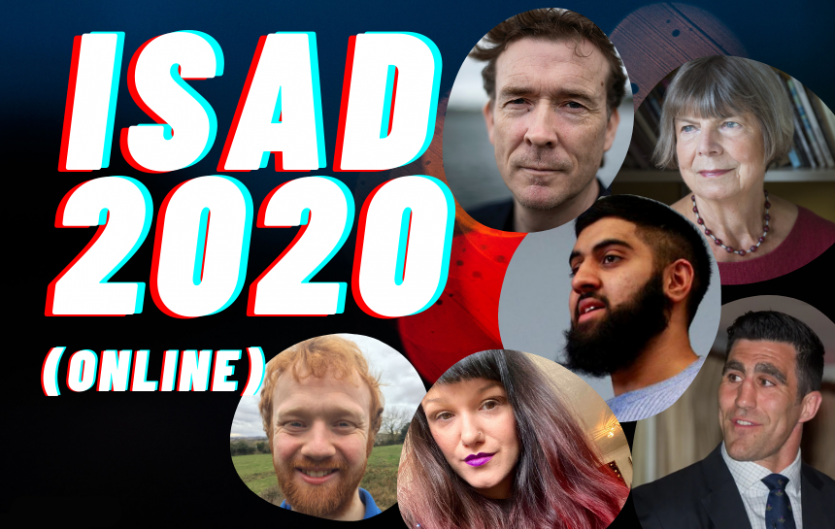 Headline 'ISAD 2020', with faces of special guests