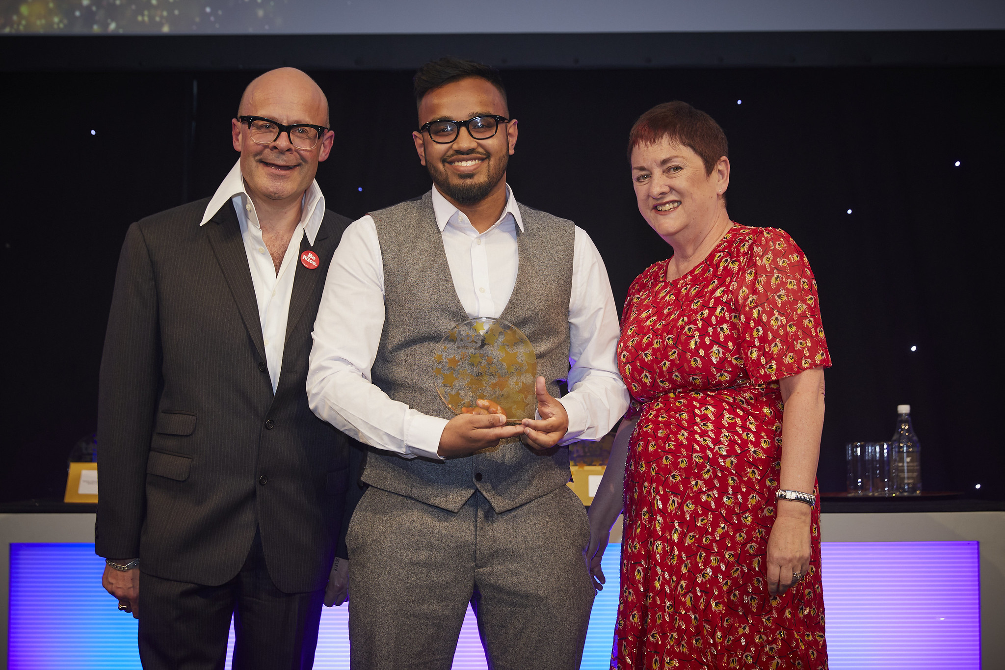 Abed winning New Teacher of the Year 2019 award