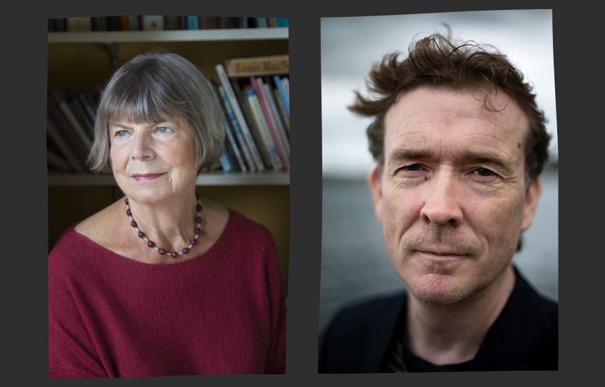 Margaret  Drabble and David Mitchell