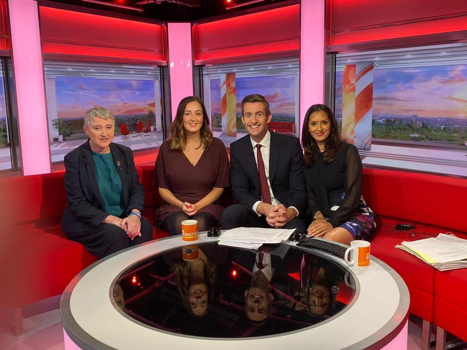 Rhian on BBC Breakfast